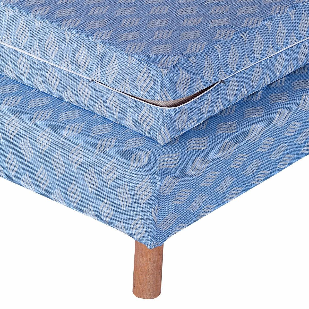 Чехол LaRedoute Для кровати 140 x 190 см синий чехол laredoute для кровати из льна touril 140 x 190 см серый