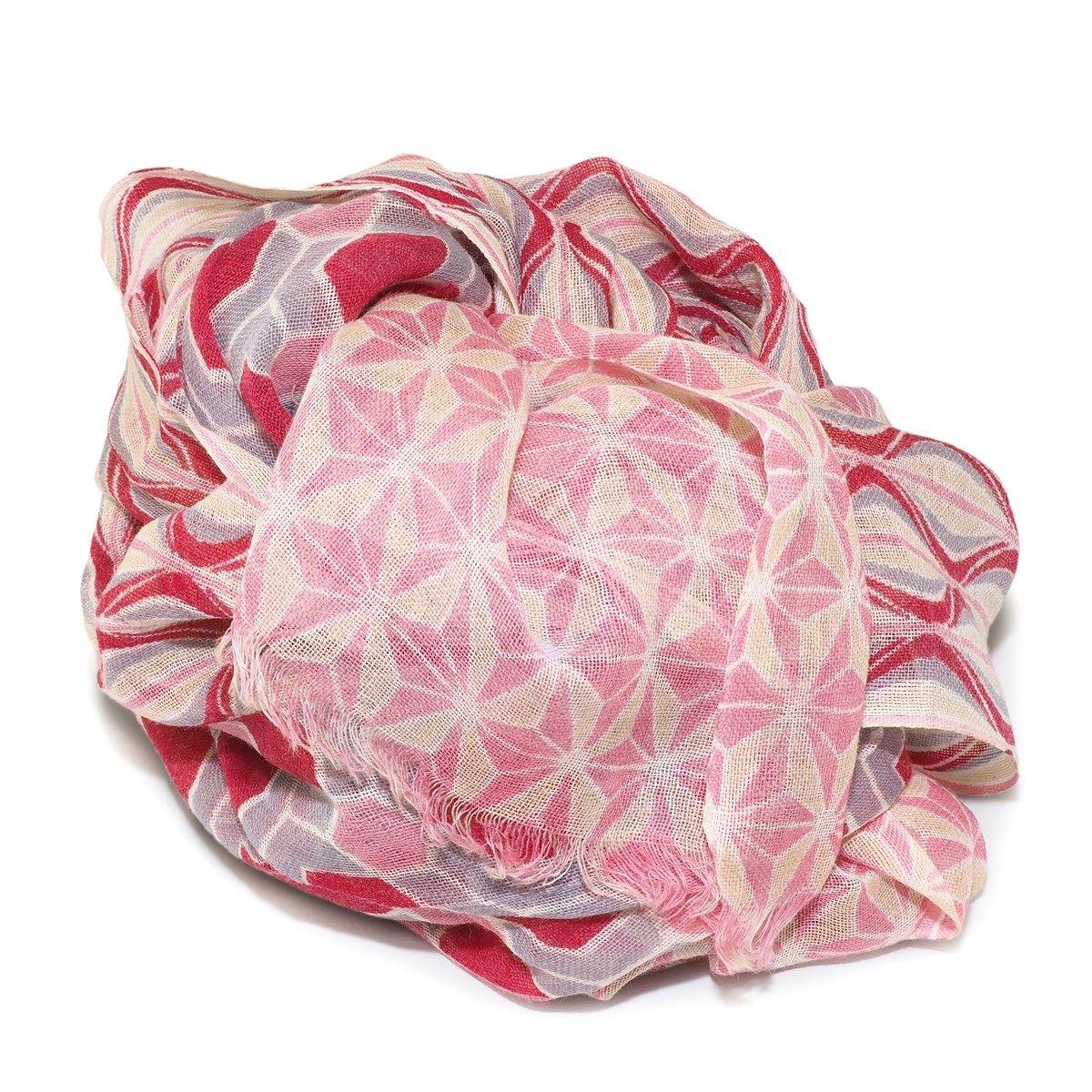 Foulard laine imprimé géométrique