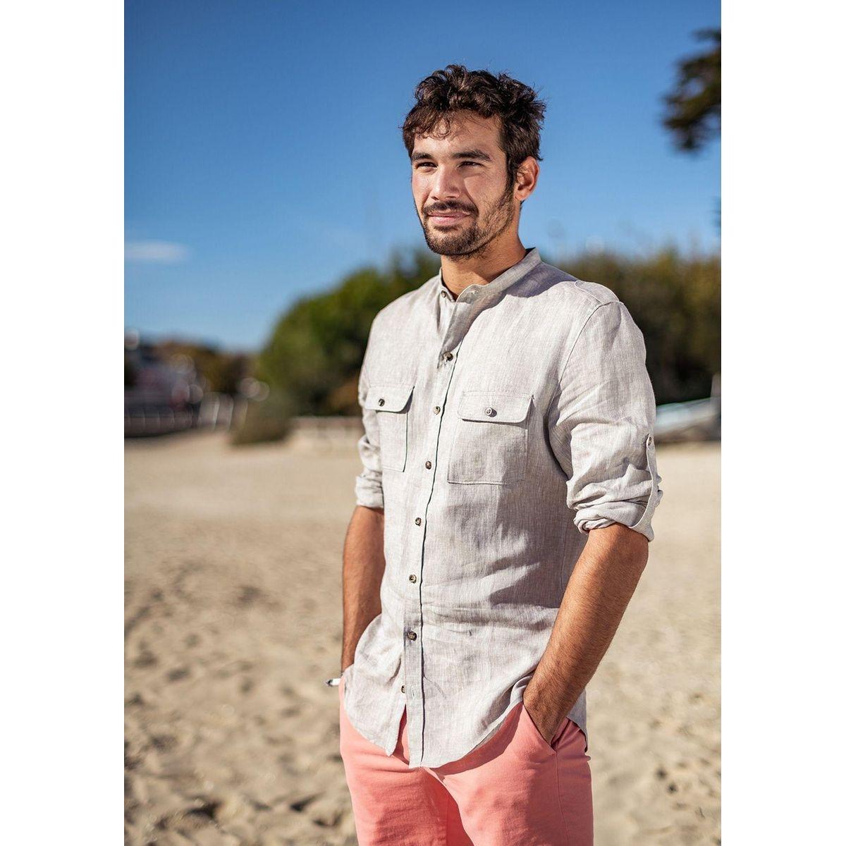 Chemise en lin à poches AVENTURE