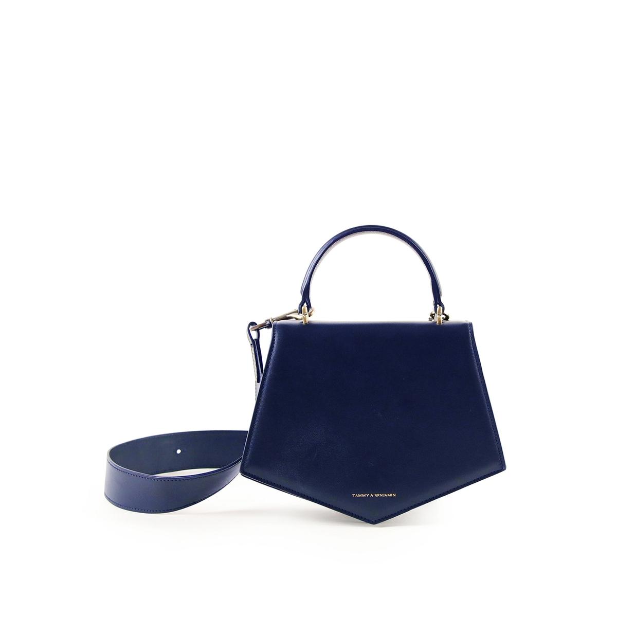 Сумка La Redoute PENTAGONE COWHIDE единый размер синий цены