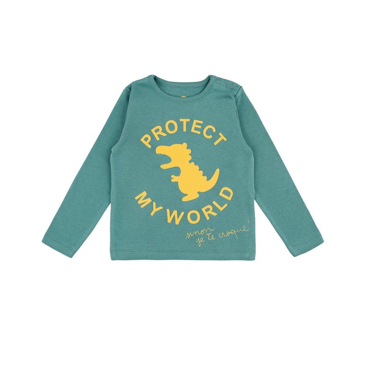 T-shirt protect vert Coton Bio