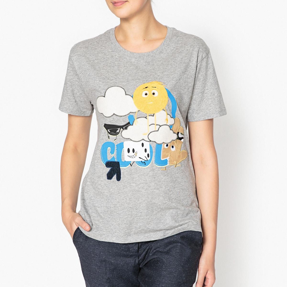Футболка с рисунком Emoji Movie TEAMОписание:Футболка  PAUL AND JOE SISTER - модель TEAM с рисунком  Emoji Movie.Детали •  Короткие рукава •  Круглый вырез •  Рисунок спередиСостав и уход •  100% хлопок •  Следуйте советам по уходу, указанным на этикетке<br><br>Цвет: серый<br>Размер: XS