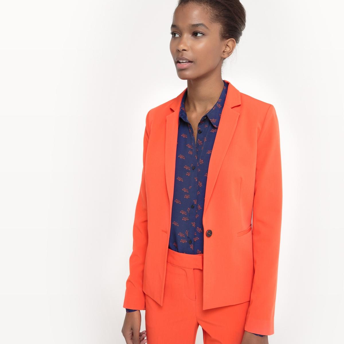 Пиджак костюмный приталенного покроя из полиэстера