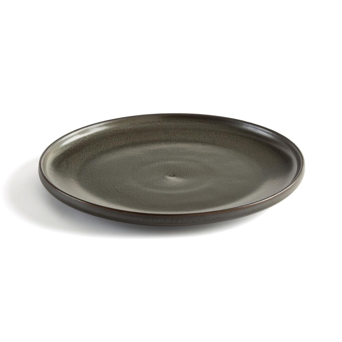 Akira Enamelled Stoneware Flat Plates (Set of 4)