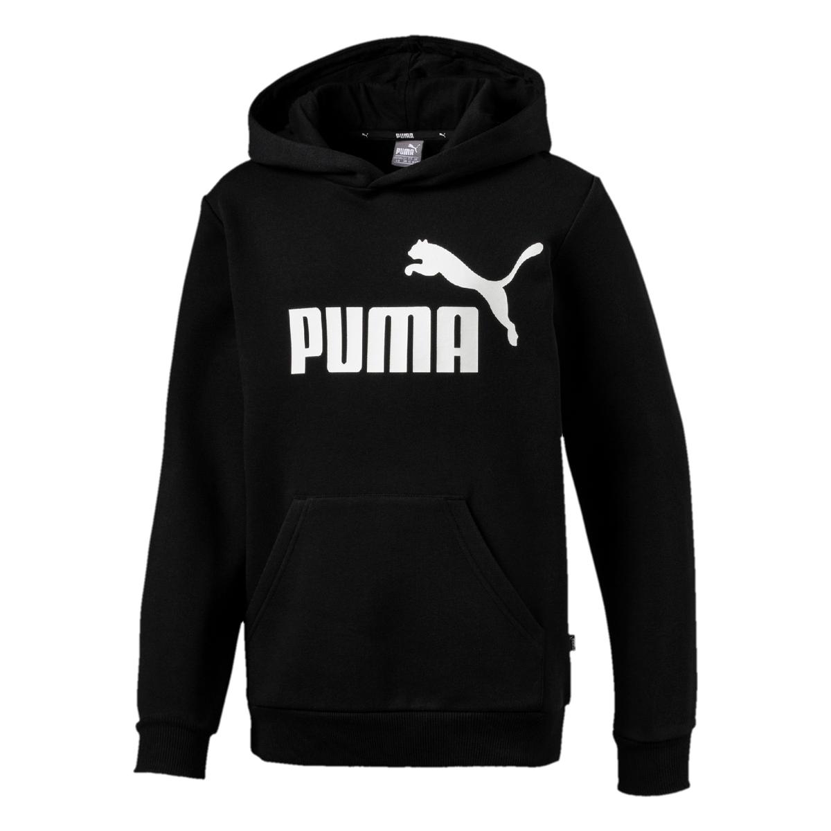 PUMA Essential no.1 fleece trui zwart kinderen