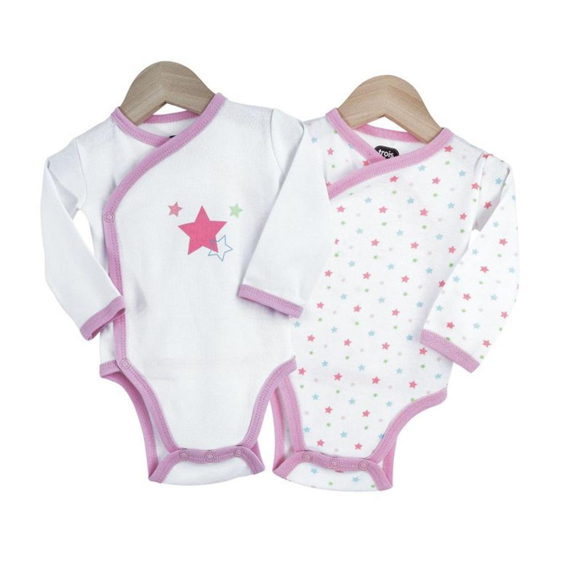 Body naissance fille - Little star x2