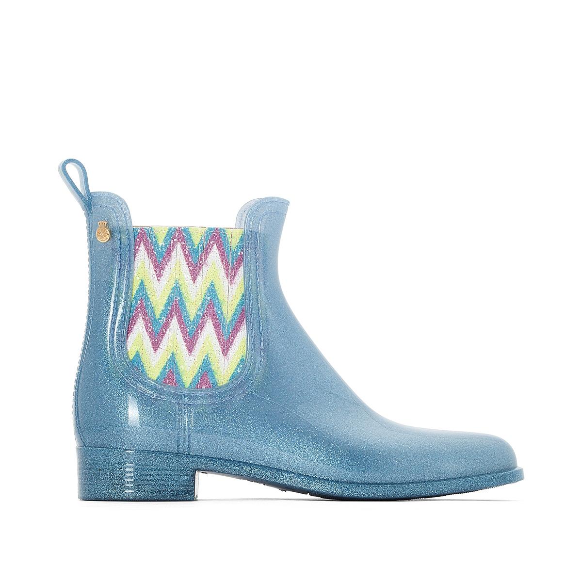 Сапоги резиновые HarperВерх : каучук   Подкладка : полиамид   Стелька : синтетика   Подошва : каучук   Высота каблука : 2 см   Форма каблука : плоский каблук   Мысок : закругленный мысок   Застежка : без застежки<br><br>Цвет: синий<br>Размер: 36