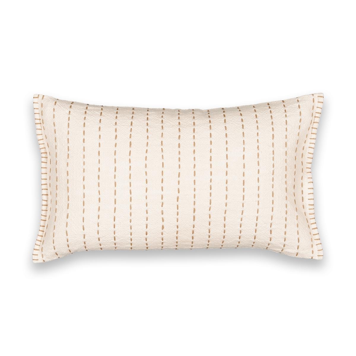 Наволочка La Redoute Rumba 50 x 30 см бежевый ковер la redoute горизонтального плетения с рисунком цементная плитка iswik 120 x 170 см бежевый