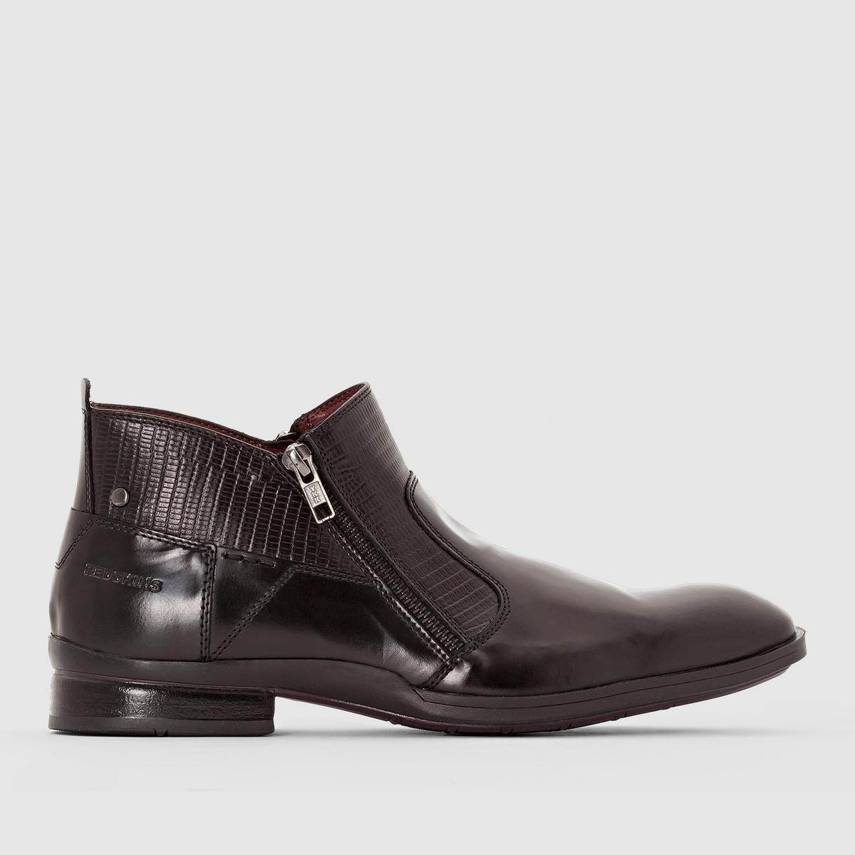 Ботильоны JAGOUПодкладка : текстиль.   Стелька : Кожа   Подкладка : Кожа и текстиль   Стелька : Кожа   Подошва : каучук.   Форма каблука : Плоский каблук   Носок : Закругленный.    Застежка : шнуровка.<br><br>Цвет: черный<br>Размер: 45
