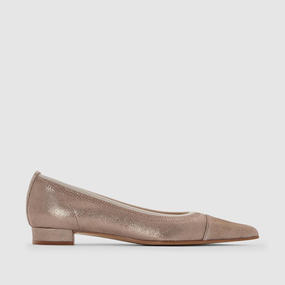 Балетки кожаные - ELIZABETH STUART, XimПреимущества: удобные балетки от ELIZABETH STUART, выполненные в утонченном стиле из натуральной кожи с переливами.<br><br>Цвет: бежевый с блеском,черный с блеском<br>Размер: 38.39