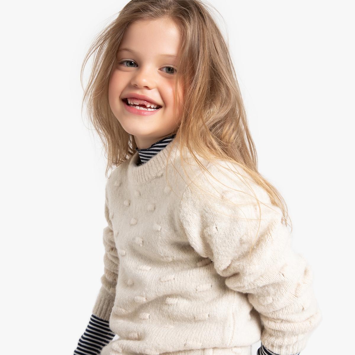 Пуловер La Redoute С круглым вырезом из плотного трикотажа 5 лет - 108 см белый пуловер la redoute с круглым вырезом из плотного трикотажа 3xl бежевый