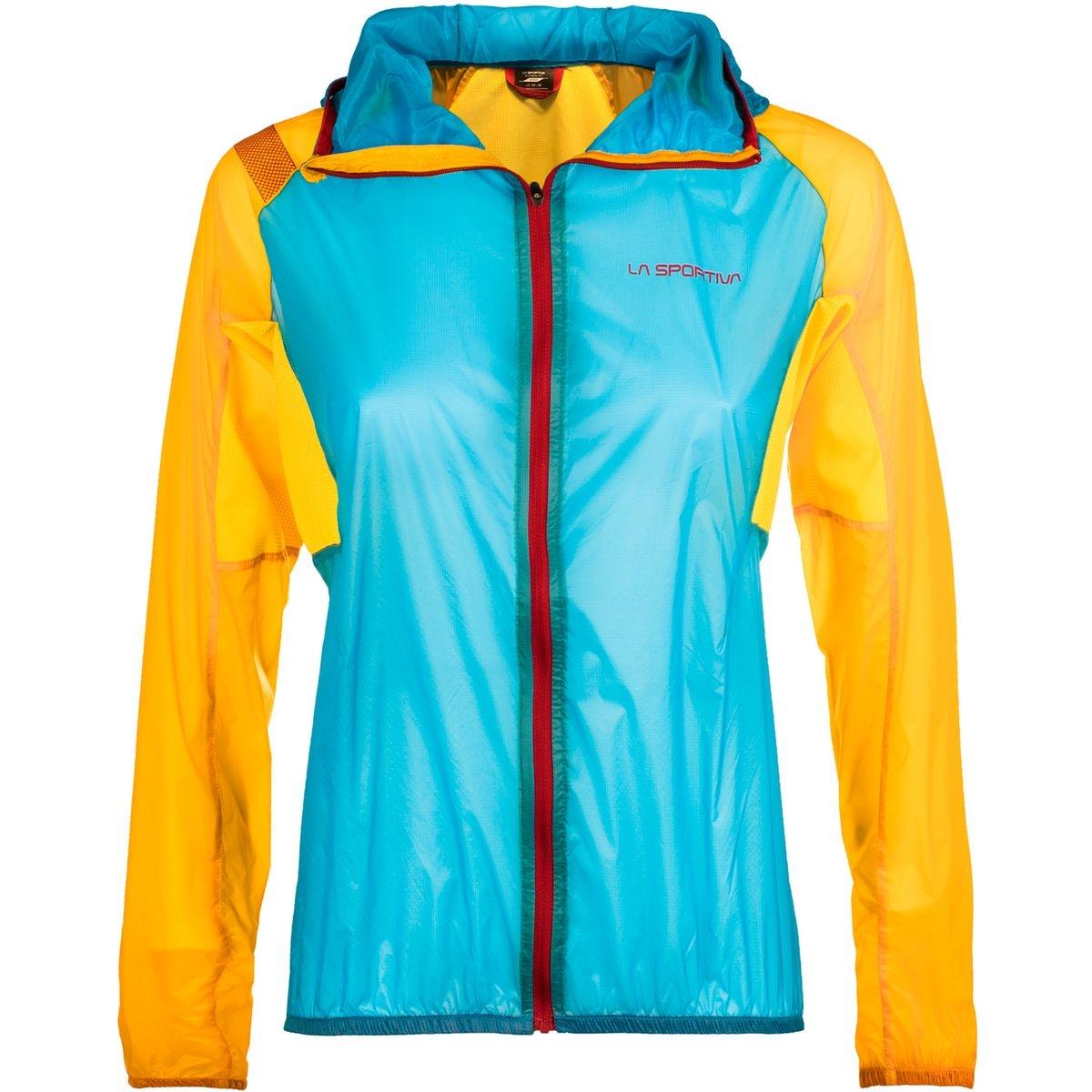Briza Windbreaker - Veste course à pied Femme - jaune/bleu