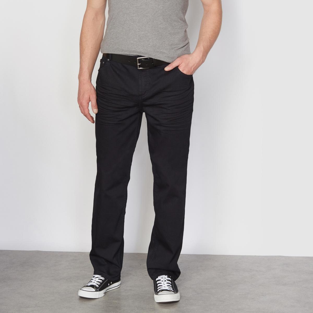 Джинсы из денима стретч черного цвета, средней степени эластичности