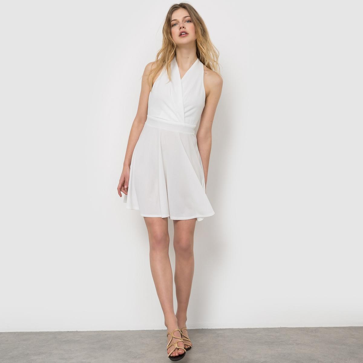 Платье с запахомСостав и описание      Материал: 100% полиэстера     Марка MOLLY BRACKEN<br><br>Цвет: белый<br>Размер: M