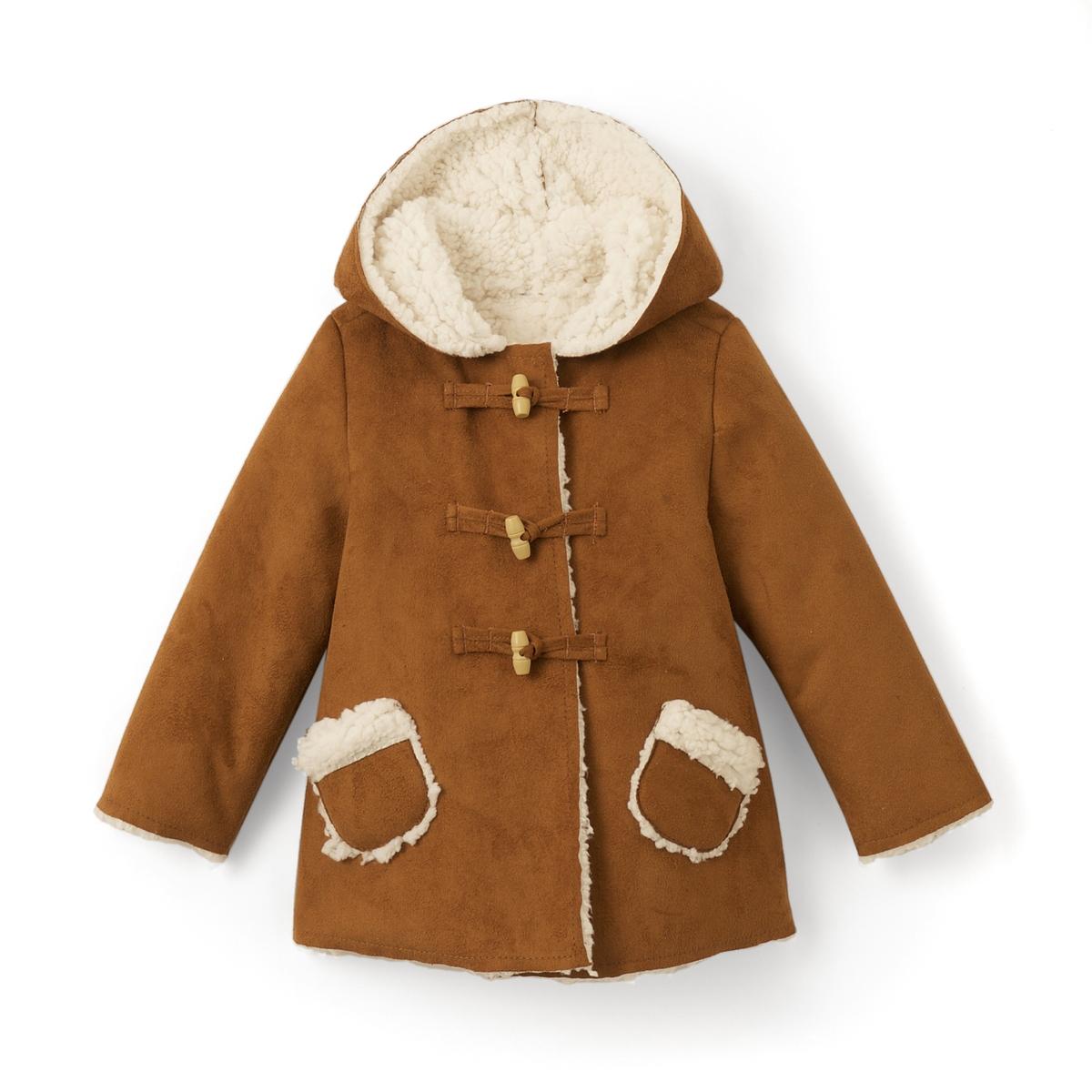 Пальто с искусственным мехом 1 мес - 3 лет пальто оверсайз с искусственным мехом
