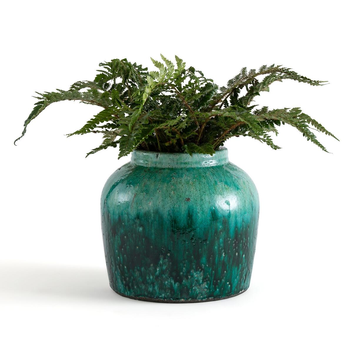Фото - Ваза LaRedoute Из глазурованной керамики В28 см Chloris единый размер синий 4 десертные laredoute тарелки из глазурованной керамики anika единый размер серый