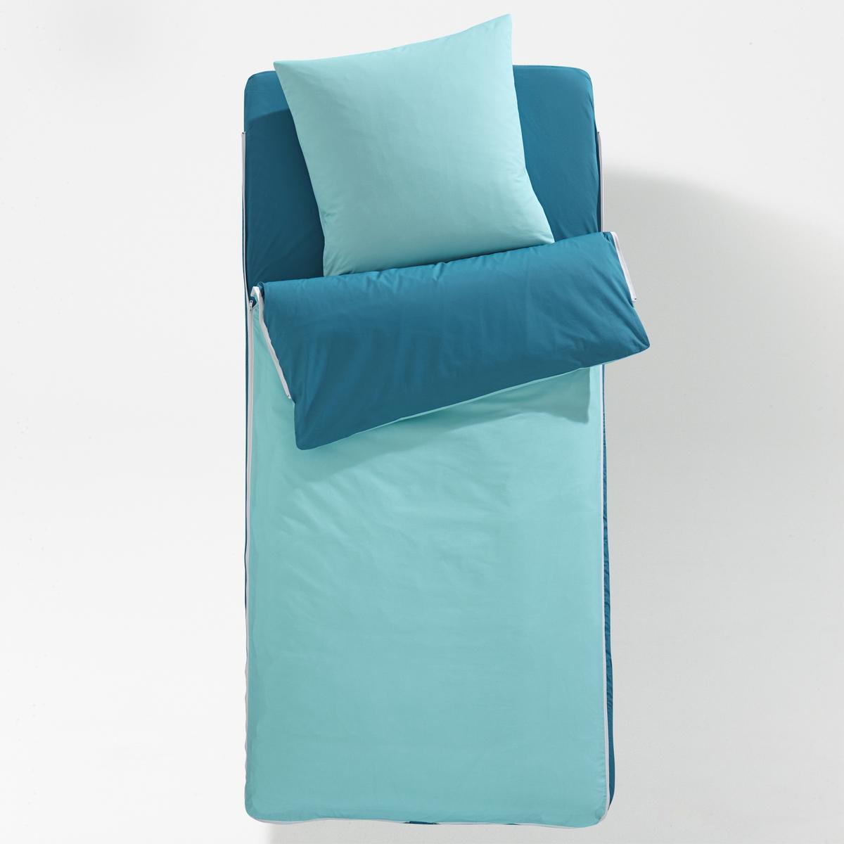 Комплект без чехла готов ко сну двухцветныйoris)Характеристики комплекта готов ко сну :В комплекте : 1 пододеяльник +1 съемное одеяло + 1 натяжная простыня + 1 квадратная наволочка  .Состав постельного комплекта  :100% хлопок с плотным переплетением нитей 57 нитей/см?   : чем больше нитей/см?, тем выше качество материала. Одеяло, 100% полиэстер (300 г/м?).Машинная стирка при 60 °СКомплекты постельные различных расцветок и с различными рисунками ищите на сайте laredoute.ruРазмеры :90 x 140 см : раскладная кровать 90 x 190 см : 1-сп.<br><br>Цвет: розовый,синий