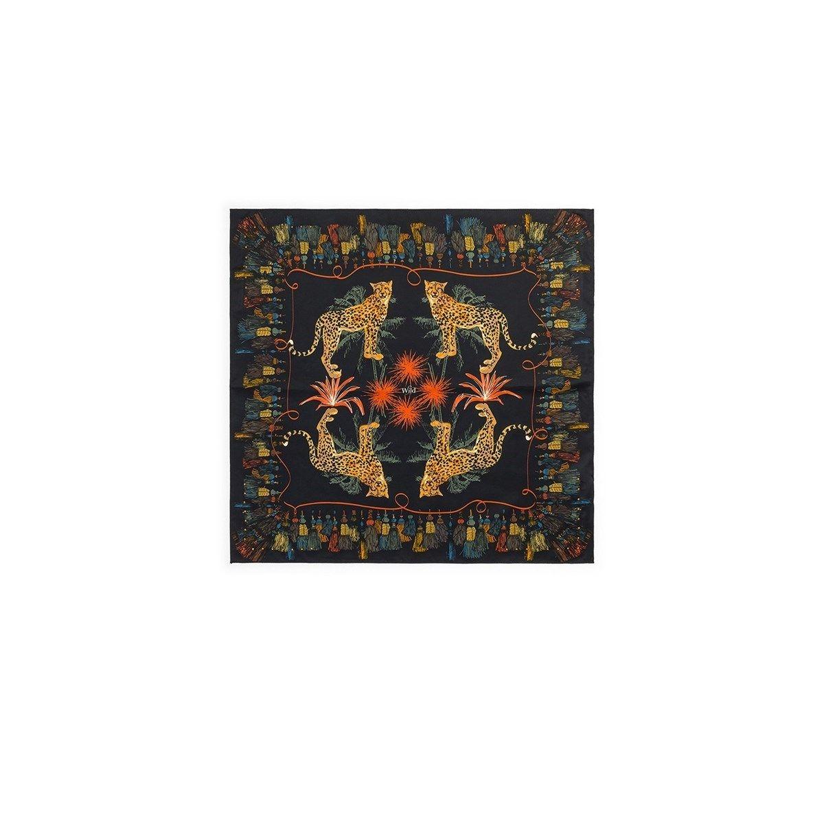 Mini foulard illustration léopard POMPON