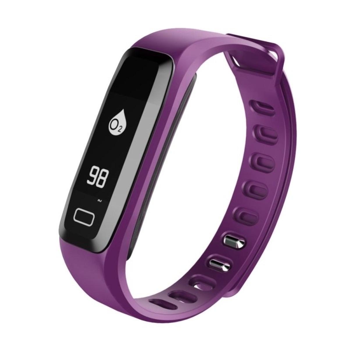 Bracelet Sport iOS Android Montre Connectée Ecran OLED Fitness Violet