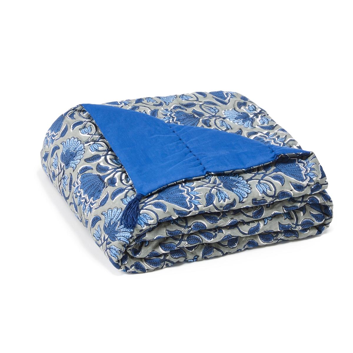 Плед La Redoute С вышивкой в стиле Кантха Zasti 110 x 180 cm синий сумка с вышивкой и кисточками charlie pouch