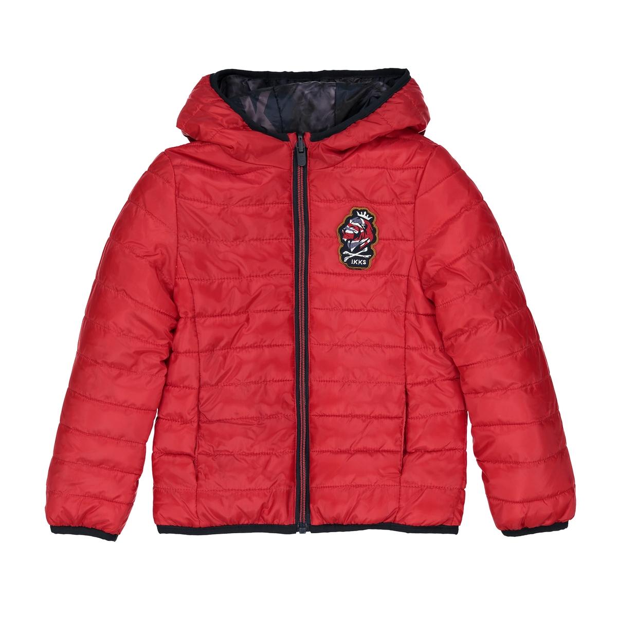 Куртка стеганая двусторонняя, 3-14 лет