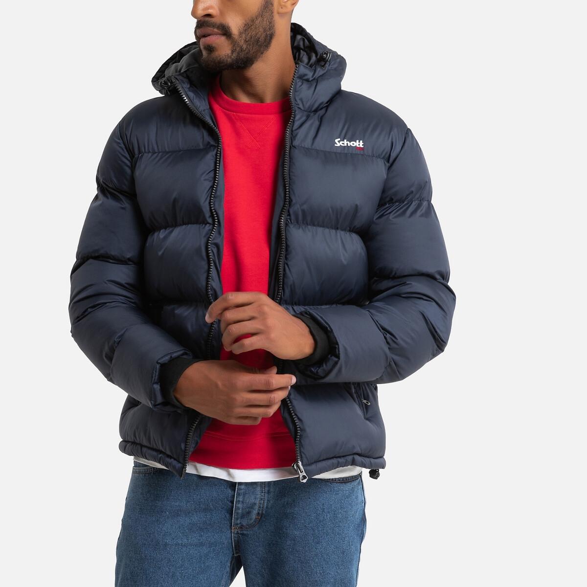 Куртка LaRedoute Стеганая на молнии с капюшоном Idaho 2 3XL синий куртка la redoute стеганая на молнии с капюшоном idaho 2 3xl синий