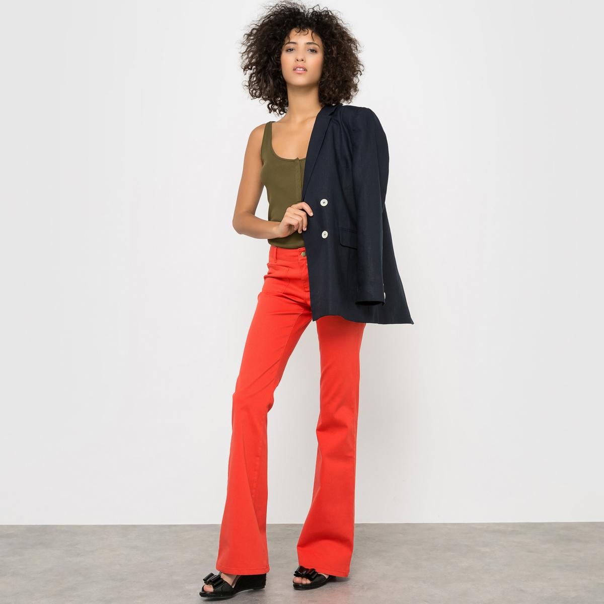 Брюки расклешенные с 5 карманами из твила расклешенные брюки с карманами bgn расклешенные брюки с карманами