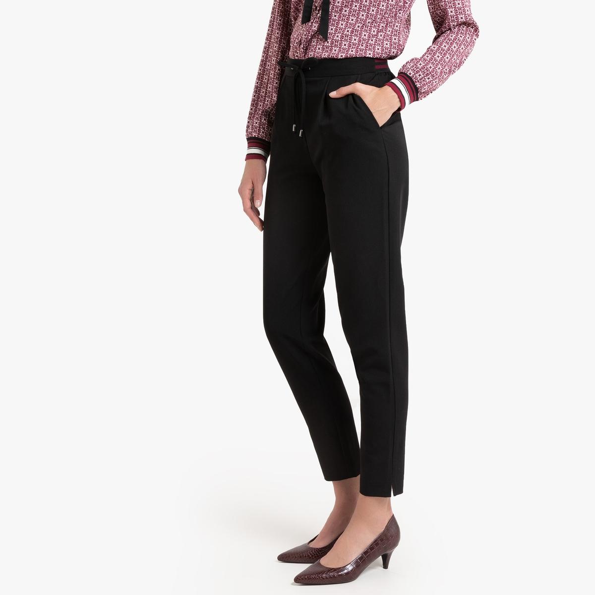 Брюки La Redoute Узкие веретенообразная форма 48 (FR) - 54 (RUS) черный брюки la redoute узкие дудочки с жаккардовым рисунком 50 fr 56 rus черный