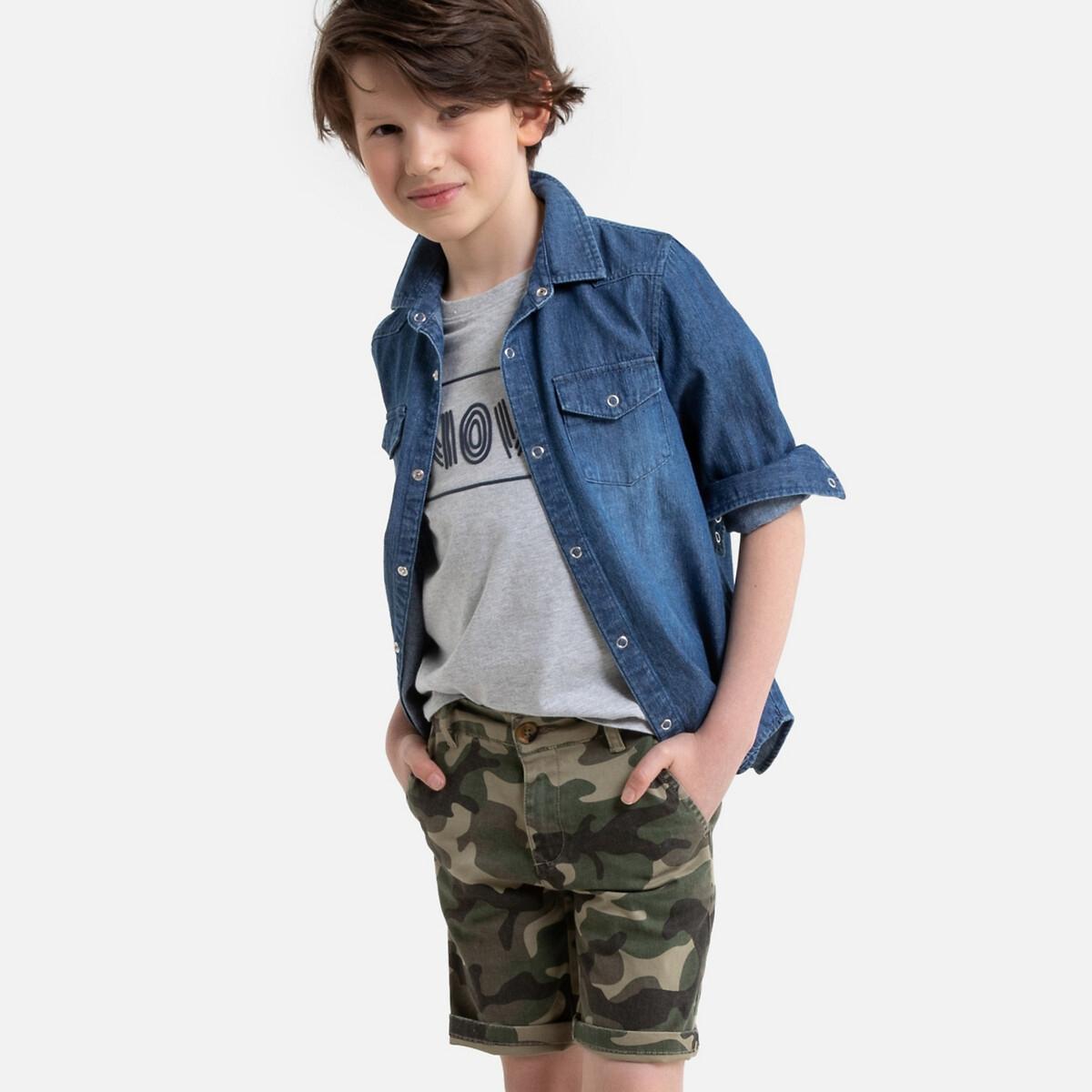 Фото - Рубашка LaRedoute Джинсовая 3-12 лет 8 лет - 126 см синий рубашка laredoute джинсовая 3 12 лет 8 лет 126 см синий