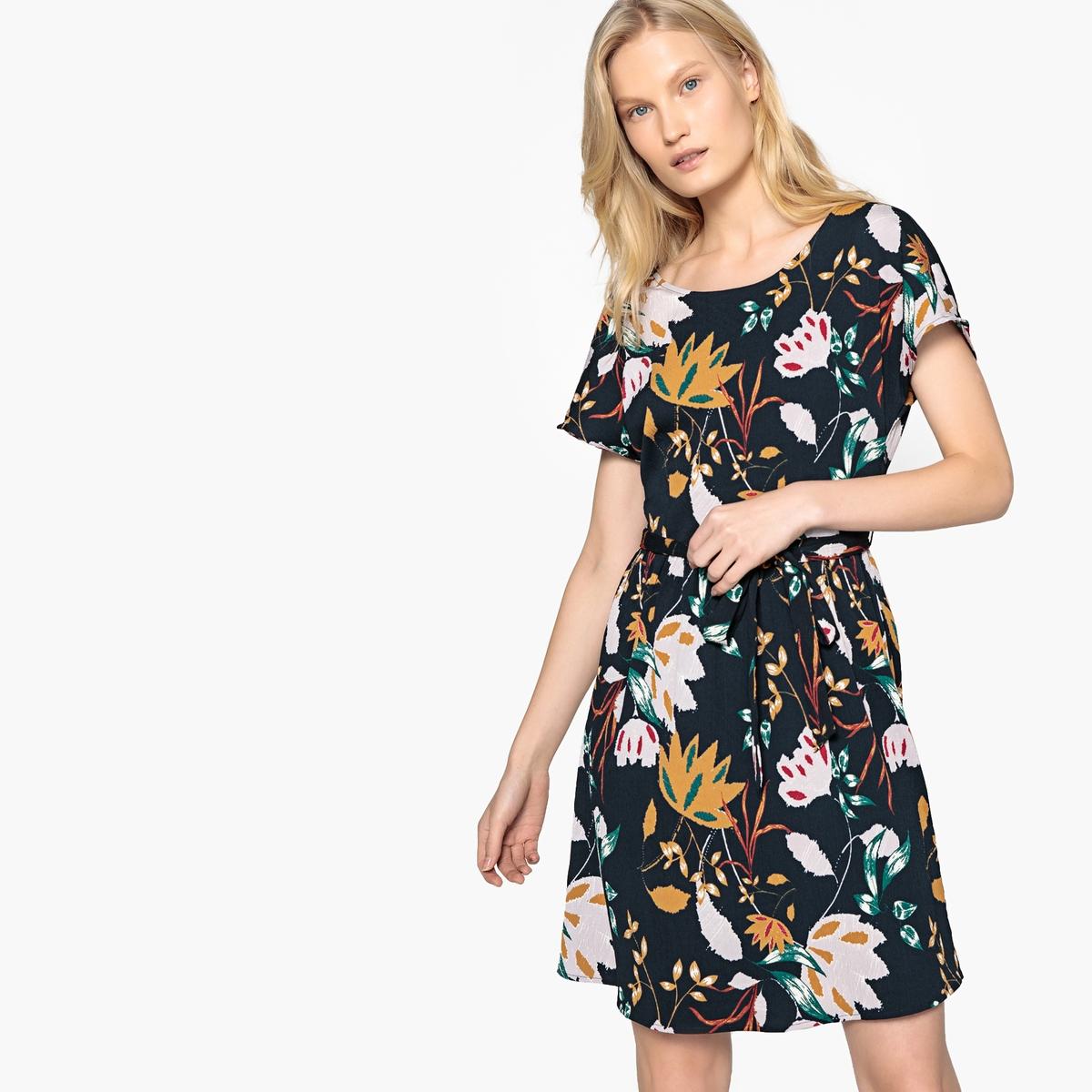 Платье короткое с короткими рукавами и поясом season4reason season4reason платье с поясом 168056
