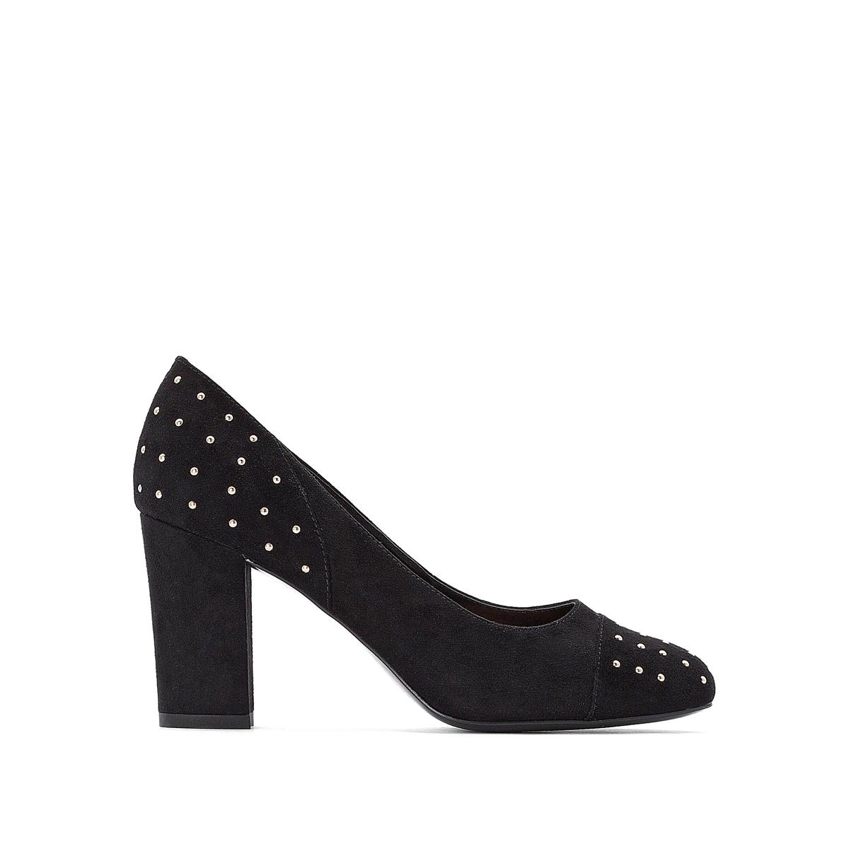 Туфли La Redoute На высоком каблуке с заклепками 36 черный