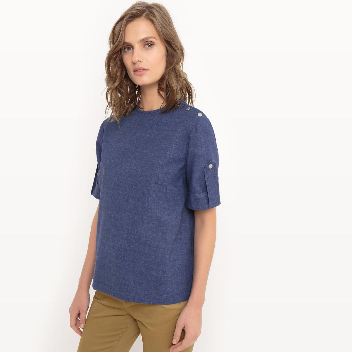 Блузка с короткими рукавами из тонкой хлопковой ткани блузки linse блузка