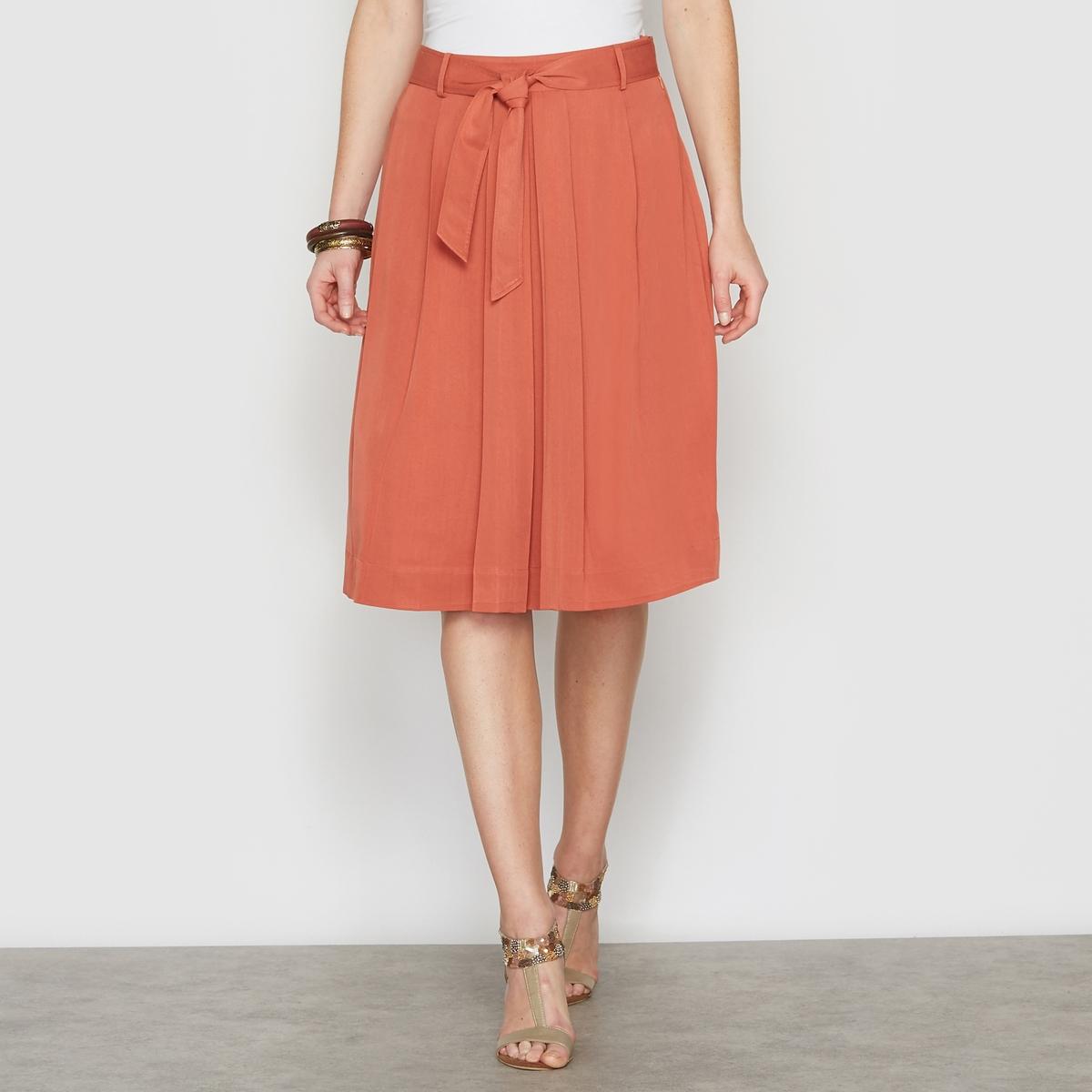 Расклешенная юбка из струящейся саржи, 100% вискозы