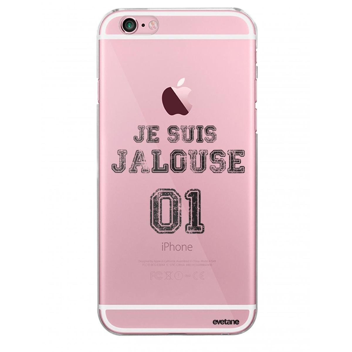 Coque iPhone 6 Plus / 6S Plus rigide transparente, Jalouse 01, Evetane®