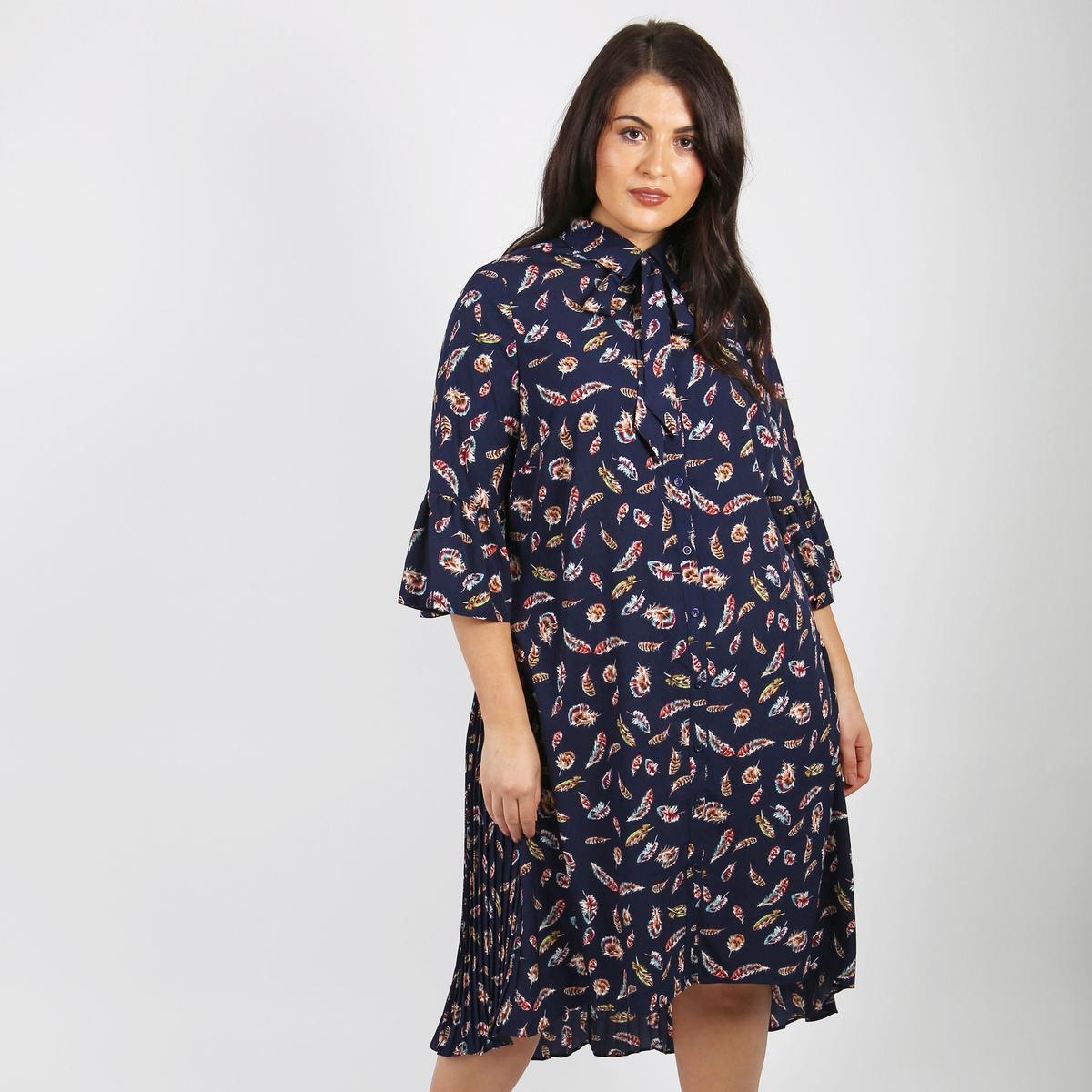 Платье расклешенное средней длины с рисунком от LOVEDROBE