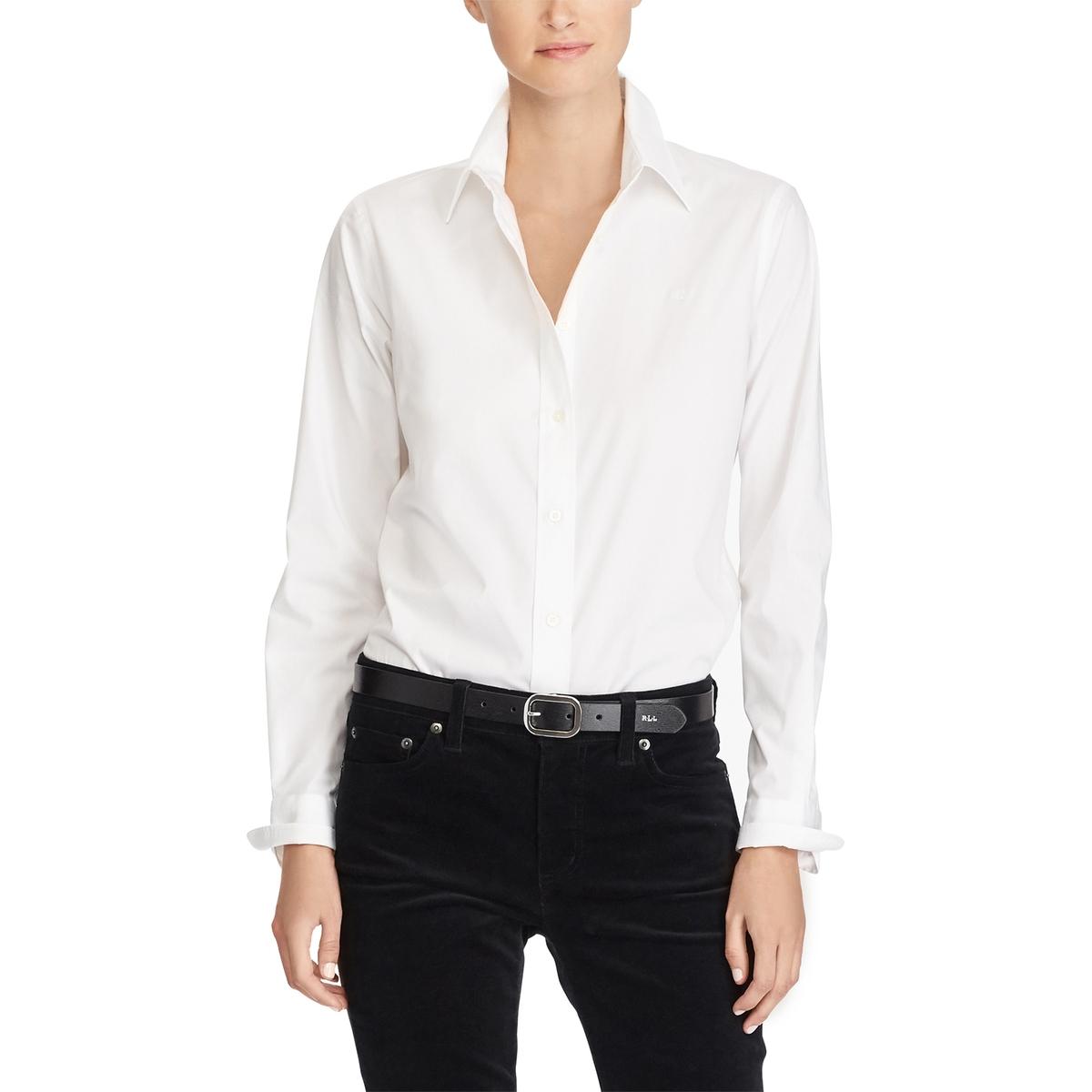 Рубашка La Redoute С длинными рукавами XS белый