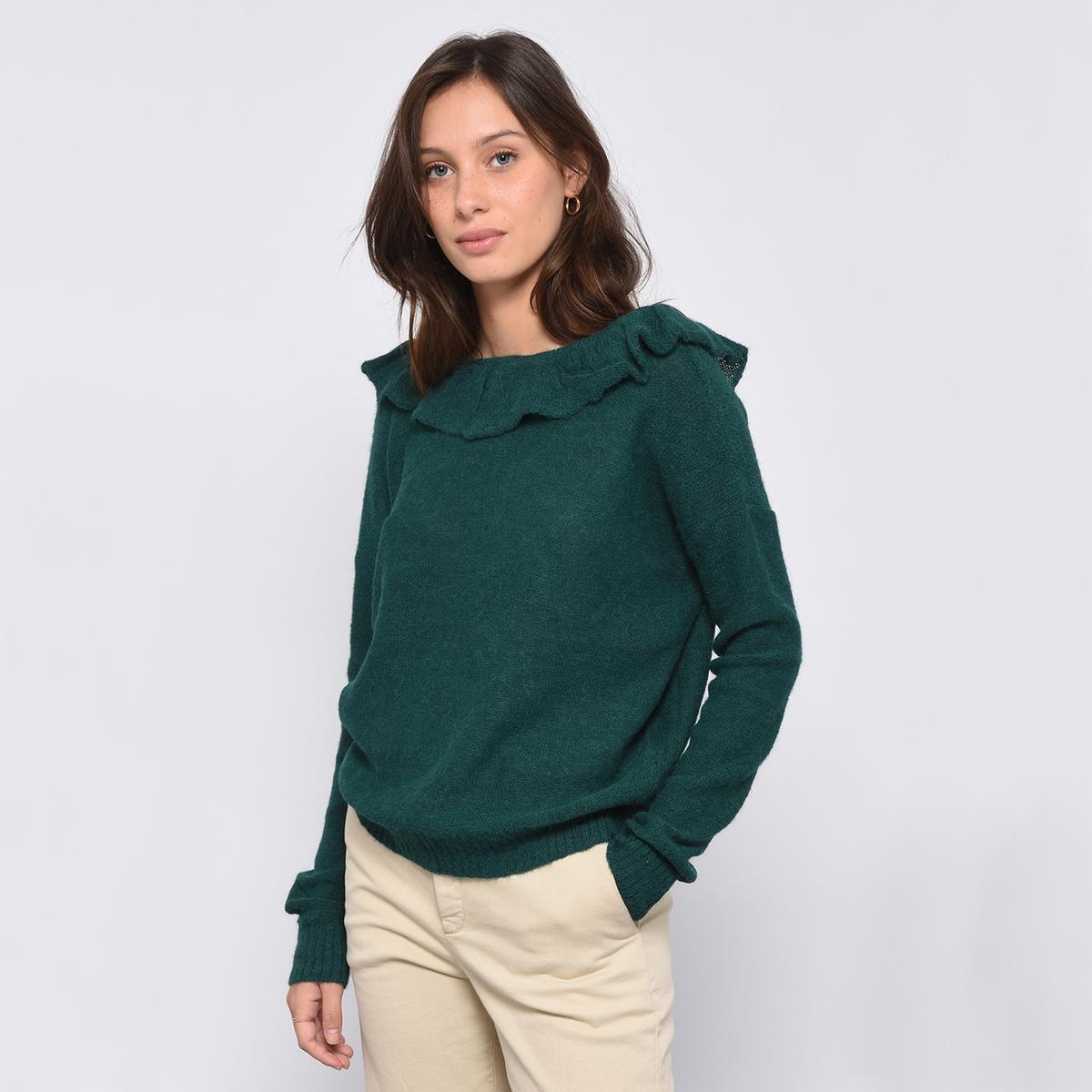 Пуловер с V-образным вырезом из тонкого трикотажа LOTERIA