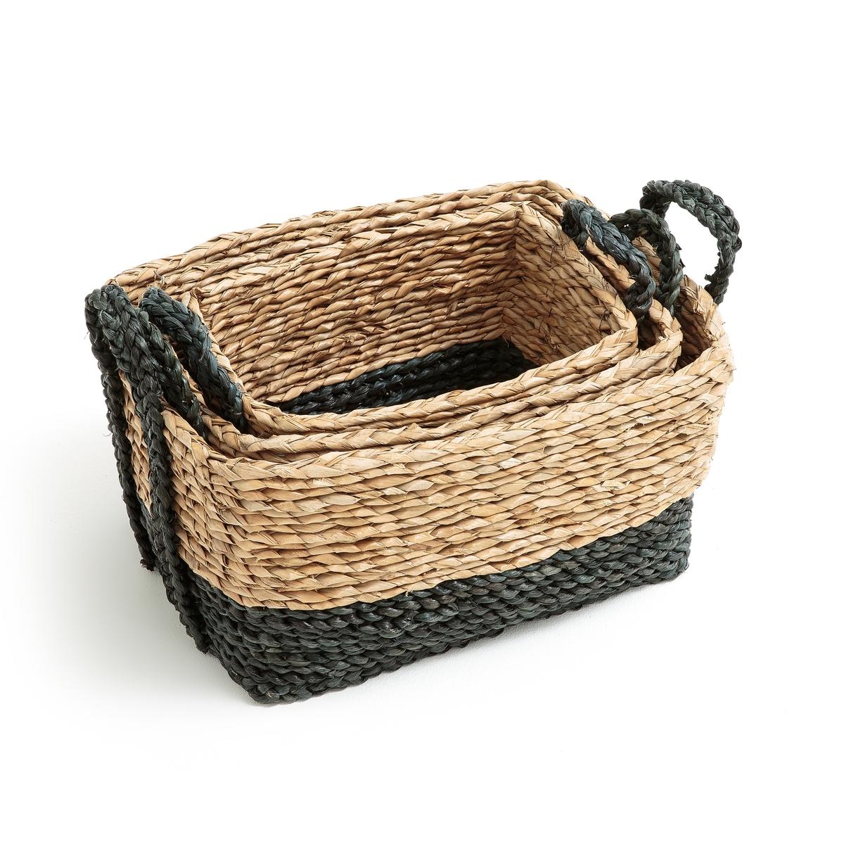 3 корзины складные плетеные
