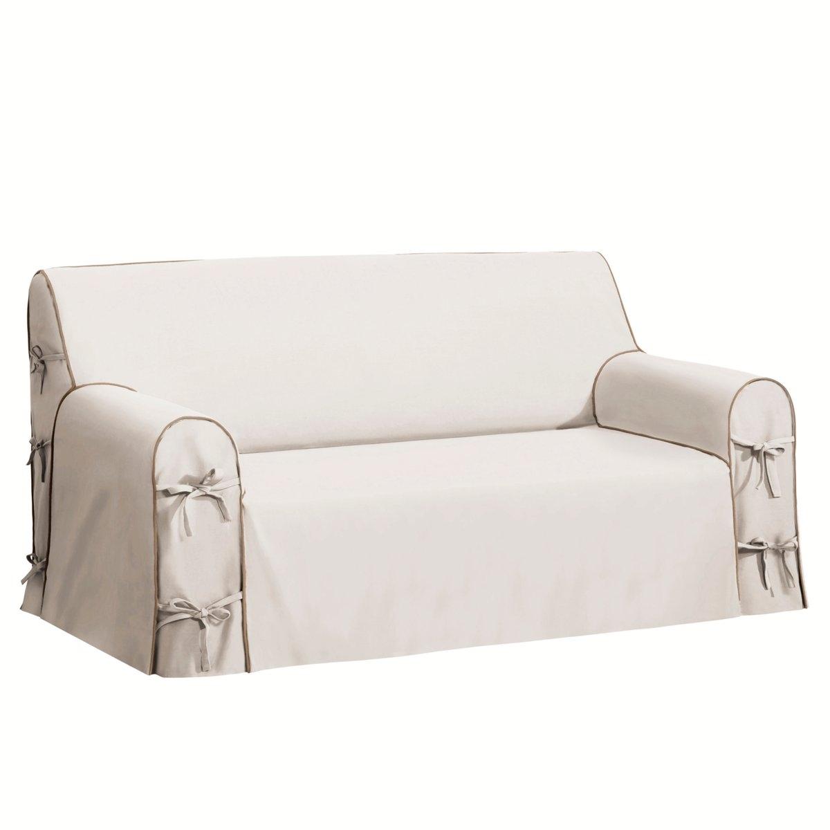 Чехол для дивана, BRIDGY.Характеристики чехла для дивана:Знак качества Valeur S?re: 100% хлопка. Большие подлокотники, регулируемые завязками. Отделка контрастным кантом.Стирка при 40°C.Размеры чехла для дивана:Общие. размеры: общ. высота: 102 см, глуб. сиденья: 60 см. 2-мест. : шир. 142 см максимум,2-3 мест. : шир. 180 см максимум,3-мест. : шир. 206 см максимум.Сертификат Oeko-Tex® дает гарантию того, что товары изготовлены без применения химических средств и не представляют опасности для здоровья человека.<br><br>Цвет: антрацит/светло-серый,белый/ черный,бордовый/антрацит,индиго/серый жемчужный,серо-бежевый/серо-коричневый,серо-коричневый/серо-бежевый,серый жемчужный/ белый,Сине-зеленый/черный<br>Размер: 3 местн..2/3 мест.2 места.2 места.2 места.2 места.2/3 мест