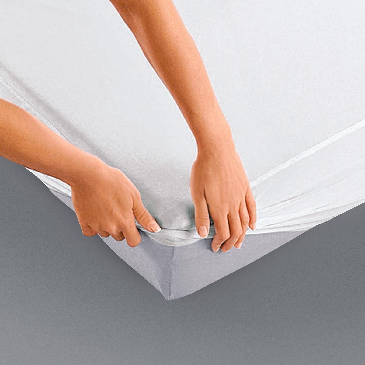 Непромокаемый La Redoute Защитный чехол для матраса 90 x 190 см белый