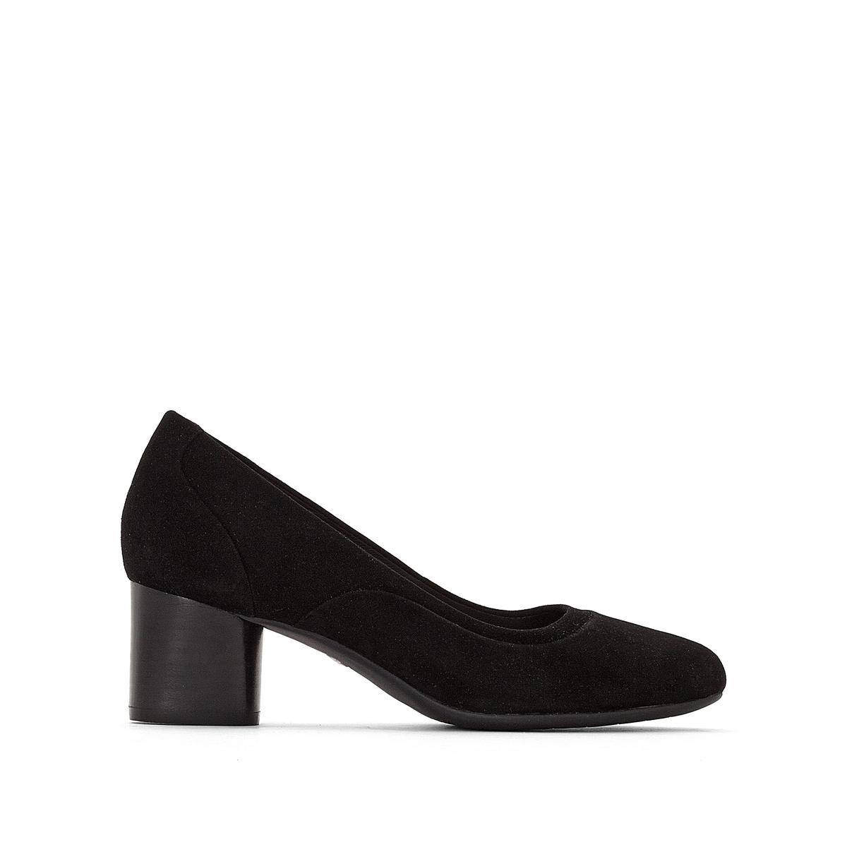 Zapatos de piel aterciopelada con tacón Un Cosmo Step