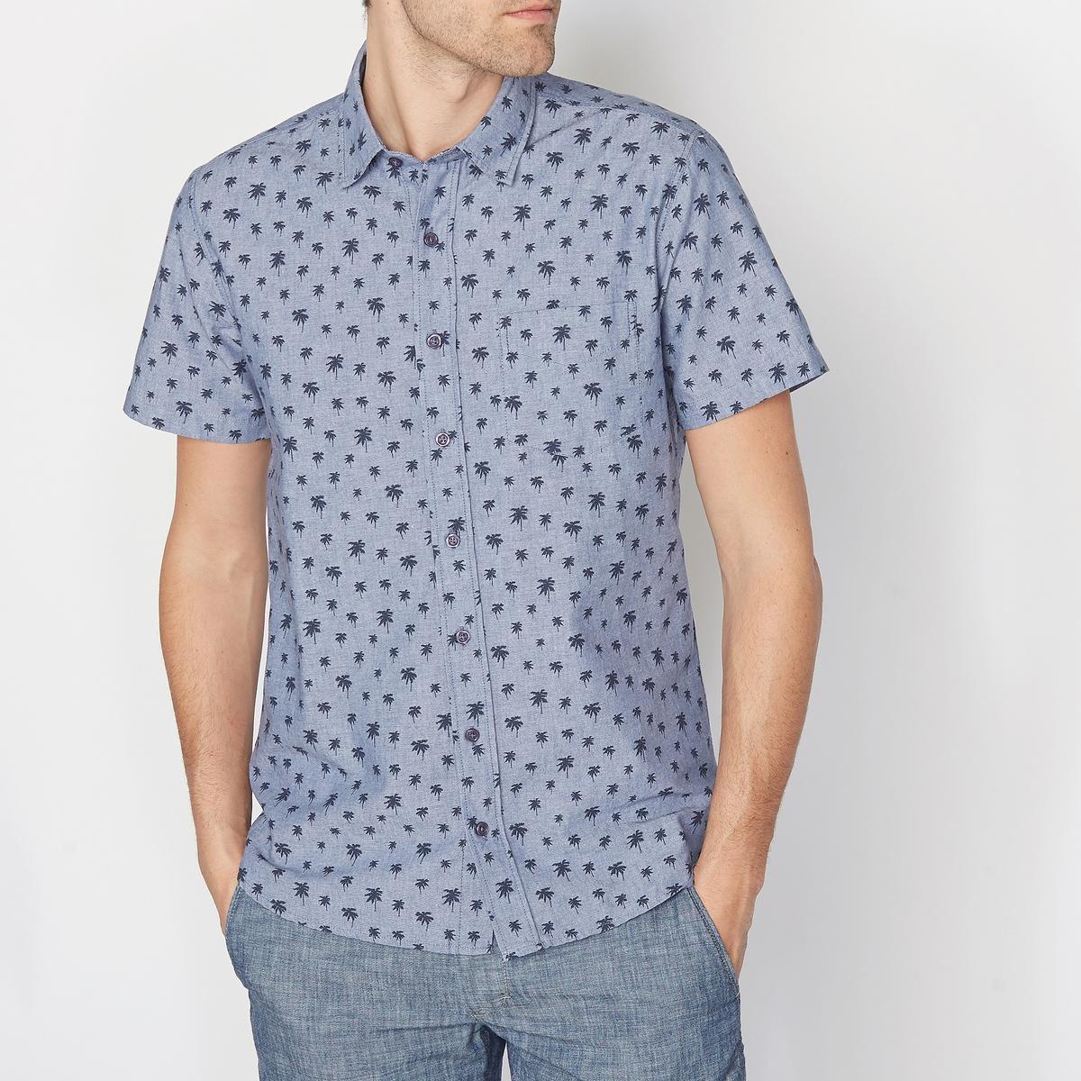 Рубашка с рисунком, с короткими рукавами, 100% хлопка