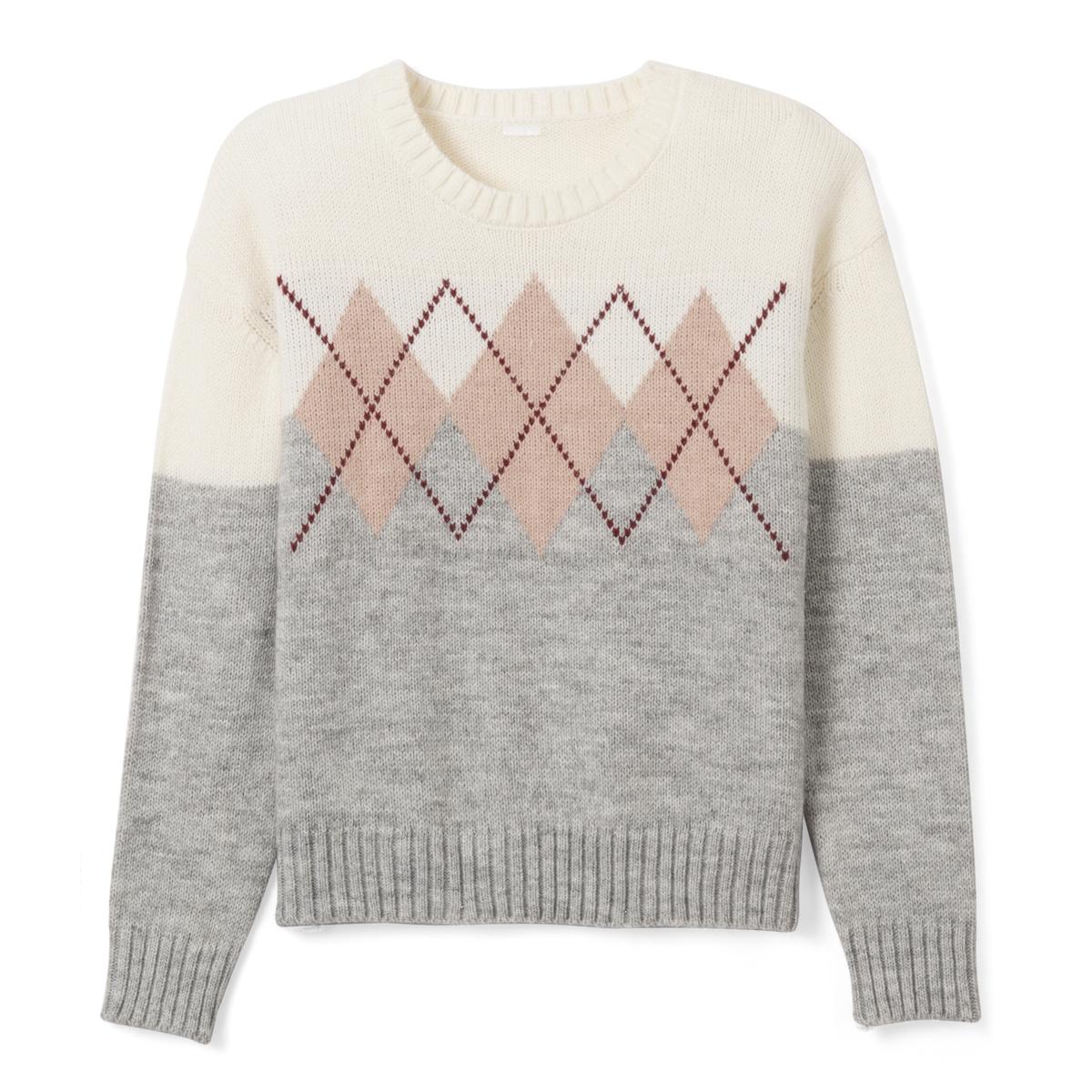 Пуловер из жаккарда с круглым вырезом 10-16 лет от La Redoute Collections