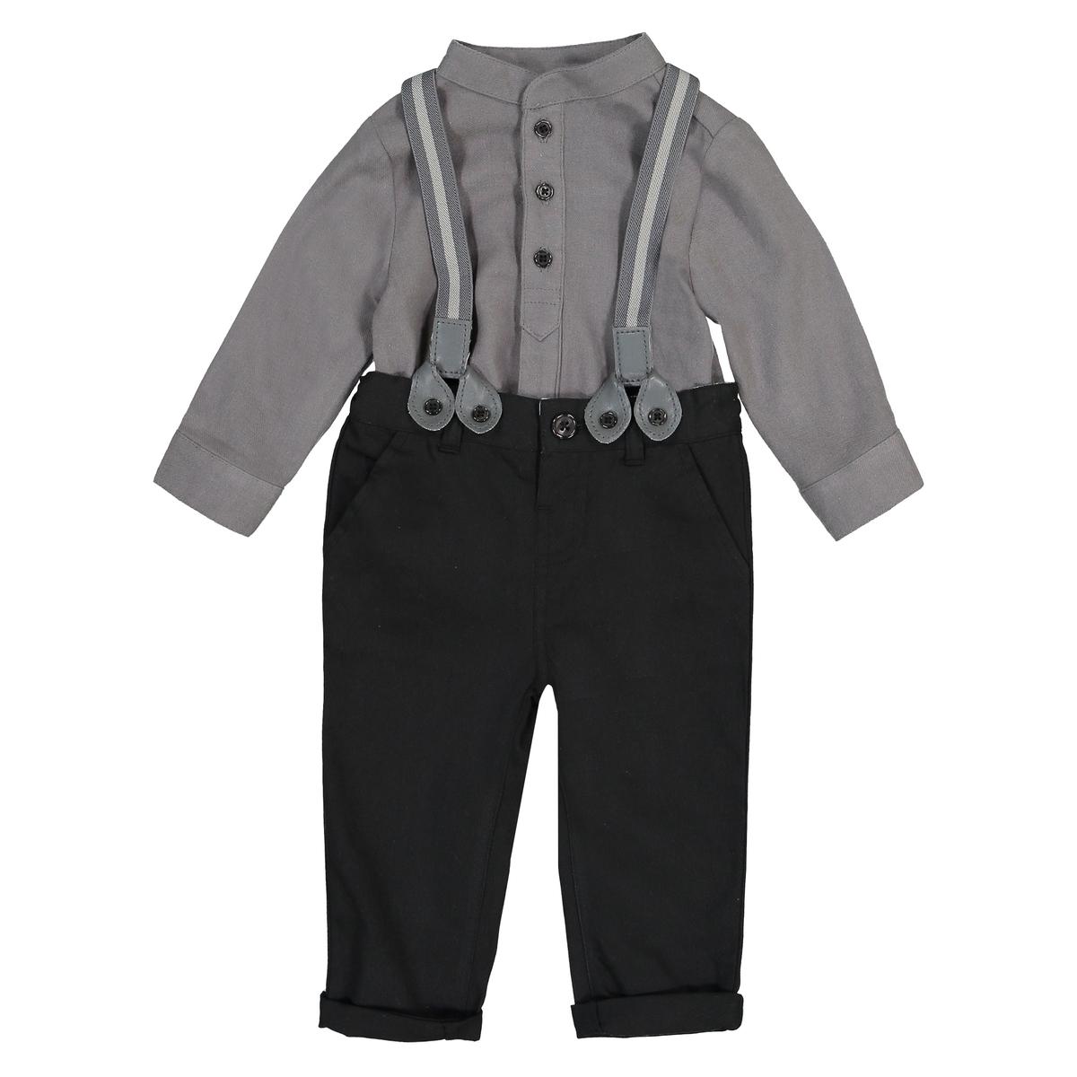 Комплект праздничный из брюк и рубашки 3 мес - 3 лет блузки и рубашки