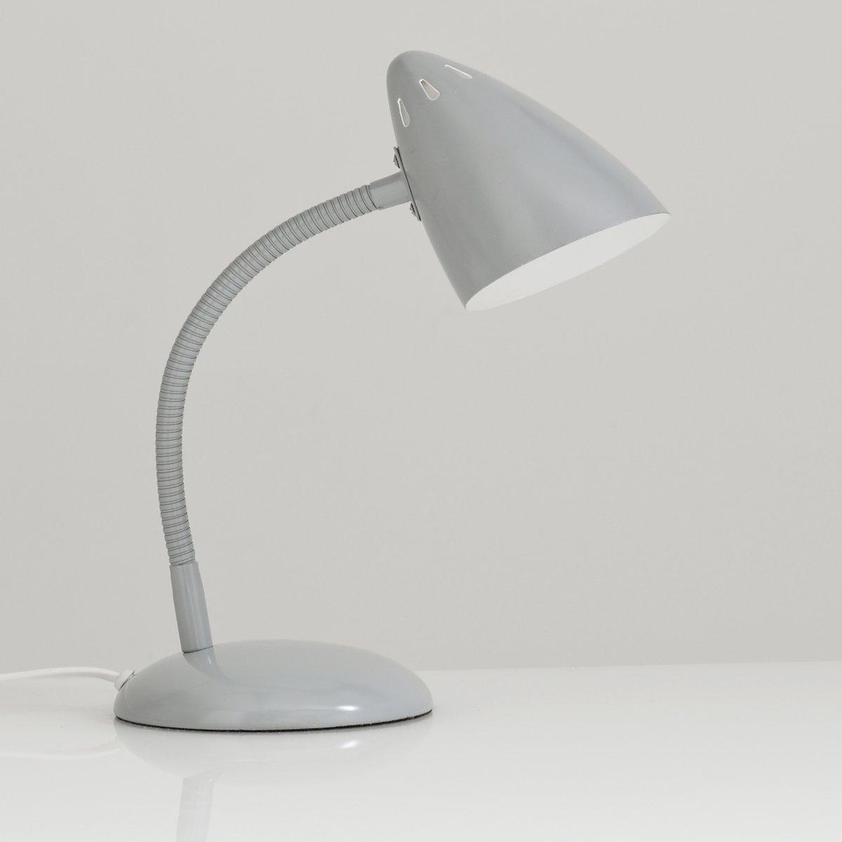 Лампа настольная из металла в винтажном стиле, RosellaЛампа настольная Rosella . Яркая симпатичная лампа в винтажном стиле, которая будет уместна у изголовья кровати или на письменном столе...Описание лампы, Rosella :Цветной абажур снаружи и белый внутри Гибкая ножка из металла Патрон E14 для флюокомпактной лампочки макс 8W (не входит в комплект)  Этот светильник совместим с лампочками    энергетического класса   : AХарактеристики светильника , Rosella  :Абажур и гибкая ножка из металла с матовым эпоксидным покрытием Размер светильника , Rosella  : 31x15x28 см (в обычном положении)Размеры и вес упаковки : 24 x 20 x 29 см  1,5 кг<br><br>Цвет: серый