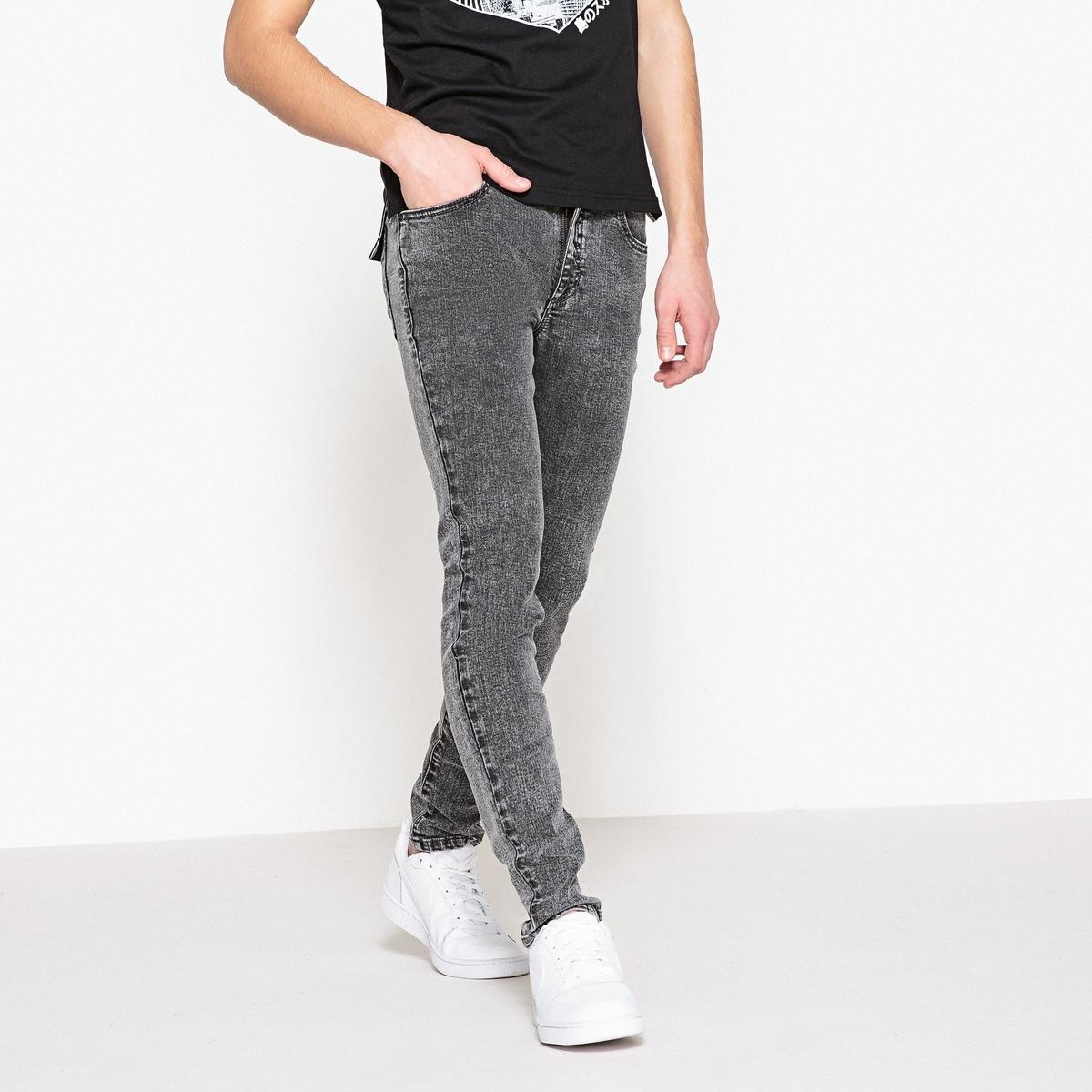 цена Джинсы La Redoute Скинни выбеленные 10 серый онлайн в 2017 году