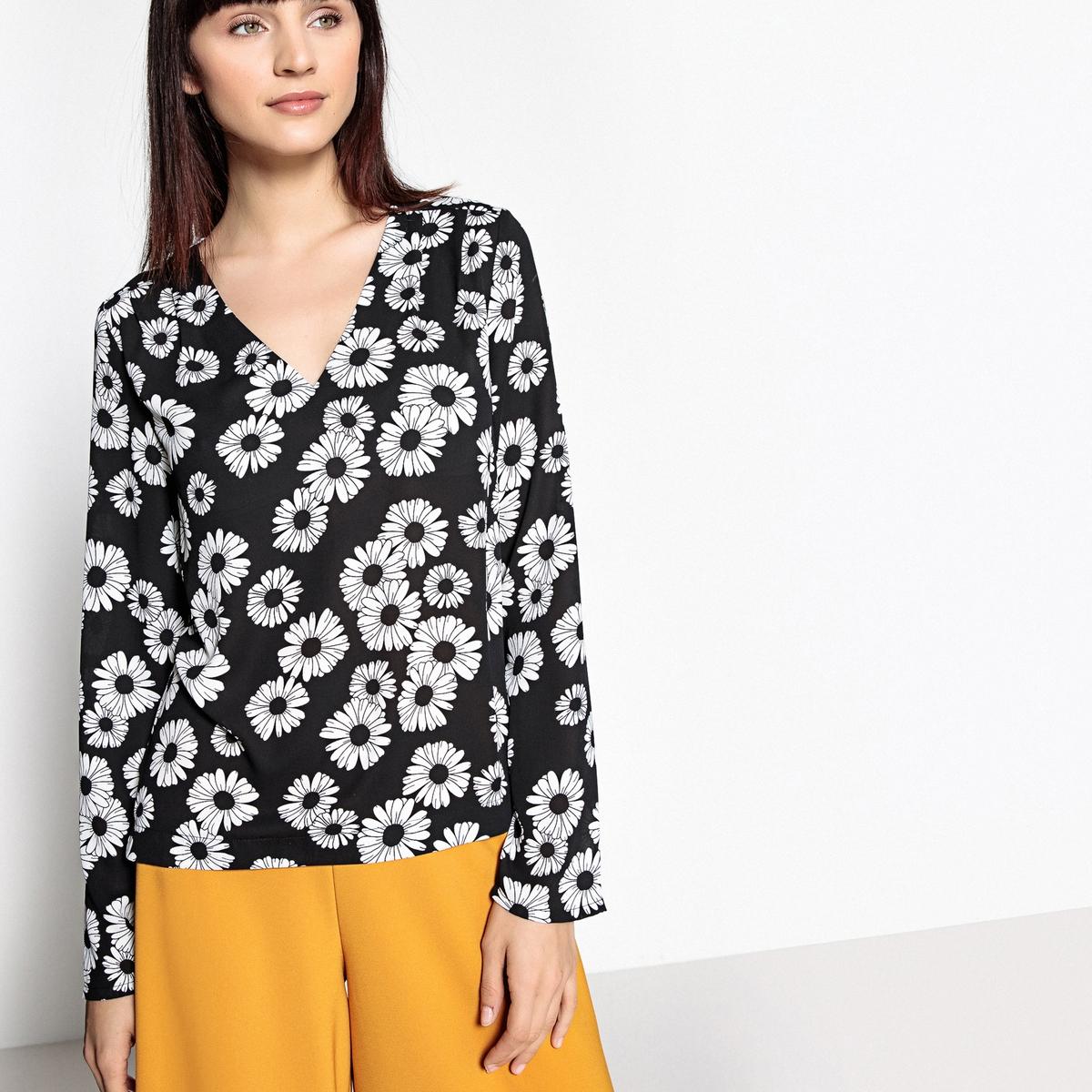 Блузка с рисунком маргаритки