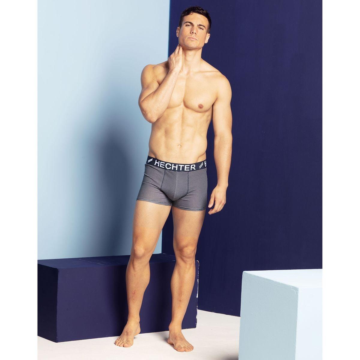 Boxer coton stretch, lot de 2