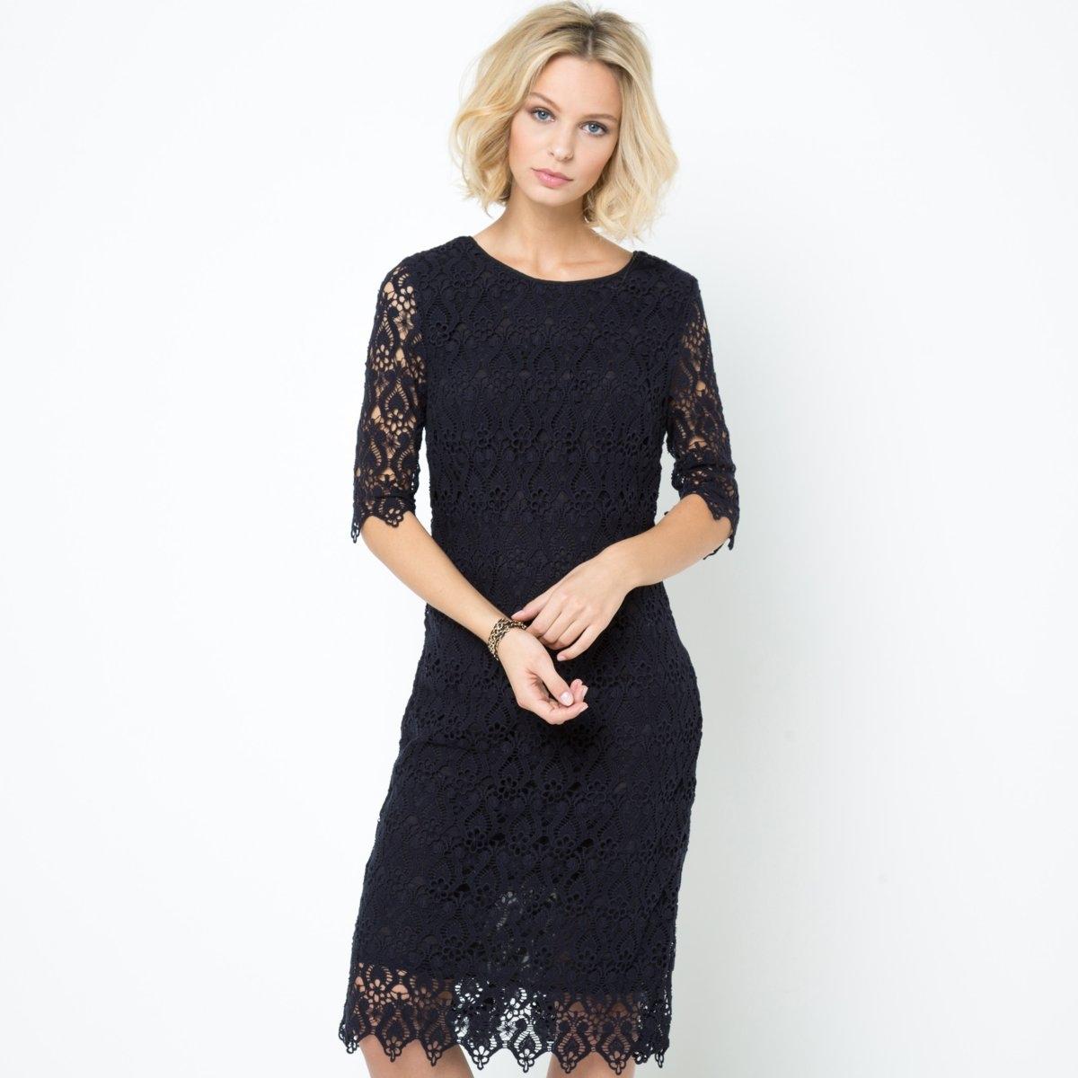 Фото Платье из гипюра, 100% хлопка. Купить с доставкой