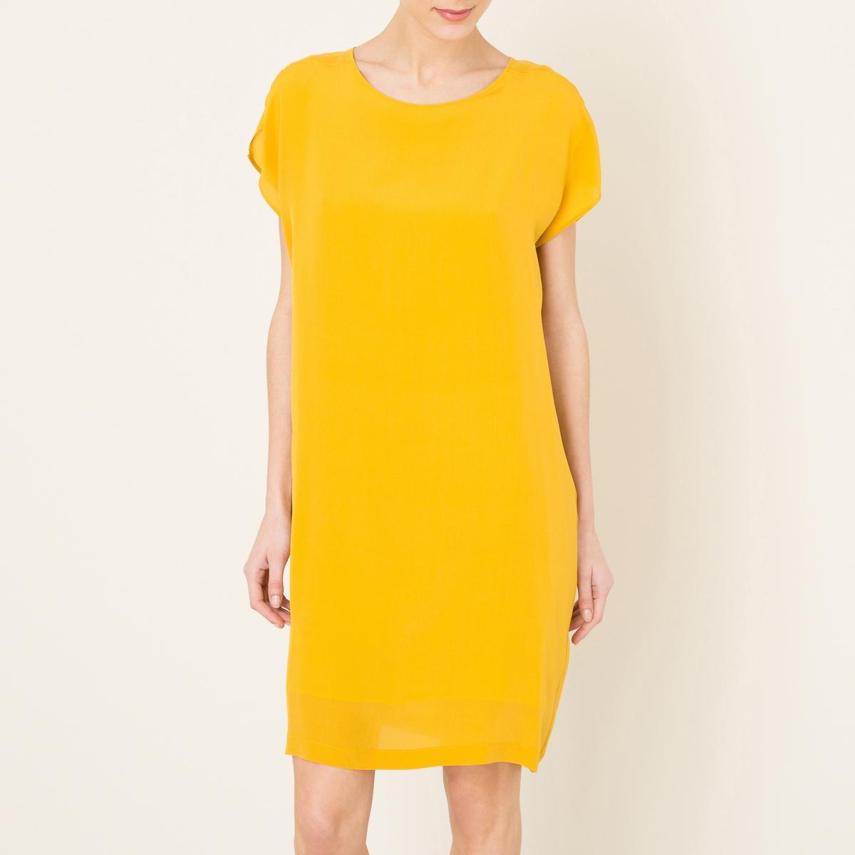 Платье шелковоеСостав и описание   Материал : 100% шелкМарка : POMANDERE<br><br>Цвет: горчичный